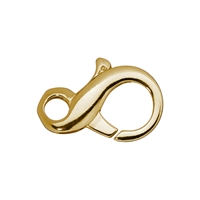 "Design Clasp ""Eight"" 18mm, Silver gold plated (2 pc/VE)"