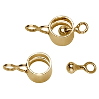 "Design Clasp ""Ring with Bobbin"" 10mm, Silver gold plated (1 pc/VE)"