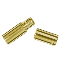 Bayonet Nut Connector for 2,0mm Cords, Silver gold plated (1 pc/VE)