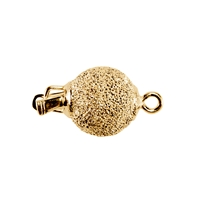 Ball Clasp 08mm, Silver gold plated stardust (1 pc/VE)