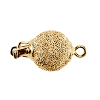 Ball Clasp 10mm, Silver gold plated stardust (1 pc/VE)