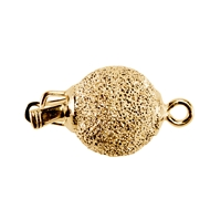 Ball Clasp 12mm, Silver goldplated stardust (1 pc/VE)