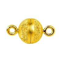 Magnetic Clasp round shape 08mm, Silver partly stardust, gold plated (1 pc/VE)