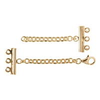 Bracelet Clasp 3 ranks, Silver gold plated (1 pc/VE)