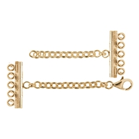 Bracelet Clasp 5 ranks, Silver gold plated (1 pc/VE)