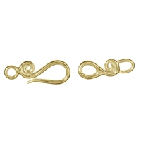 Hook Spiral Decor with Loop 25mm, Silver gold plated (1 pc/VE)