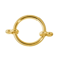 Clamp Ring with two loops 26mm, Silver gold plated (1 pc/VE)
