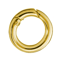 Ring Clasp 20mm, Silver goldplated, round belt (1 pc/VE)