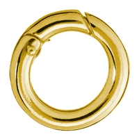 Ring Clasp 17mm, Silver goldplated, round belt (1 pc/VE)