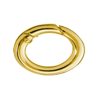 Ring Clasp 12 x16mm, Silver goldplated, round belt (1 pc/VE)