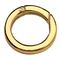 Ring Clasp 20mm, Silver goldplated, square-cut belt (1 pc/VE)