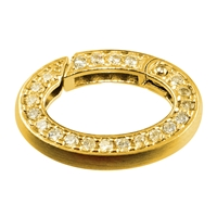 Ring Clasp oval 21x16mm, Silver goldlplated (1 pc/VE)