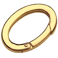 Ring Clasp 22 x 38mm, Silver goldplated, square-cut belt (1 pc/VE)