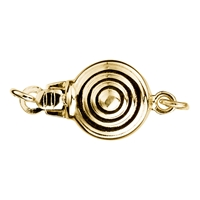 Box Clasp 7mm, Silver gold plated (1 pc/VE)