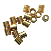 Crimp Tubes 2mm, Silver gold plated (200 pc/VE)