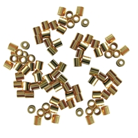 Crimp Tube 2mm, Silver gold plated (2000 pc/VE)
