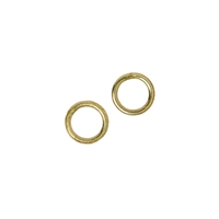 Jump Ring closed 4mm,  Silver goldplated (90 pc/VE)