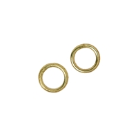 Jump Ring 5mm, Silver gold Plated (44 St./VE)