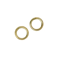 Jump Ring 06mm, Silver gold plated (37 pc/VE)