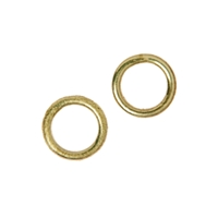 Jump Ring 08mm, Silver gold plated (20 pc/VE)