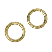 Jump Ring 12mm, Silver gold plated frosted (4 pc/VE)