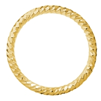 Hollow Ring facetted 24mm, Silver gold plated (4 pc/VE)