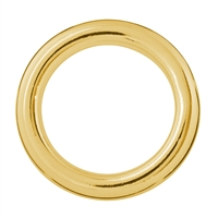 Hollow Ring Jumbo 25mm, Silver gold plated (1 pc/VE)