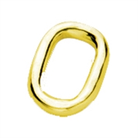 Jump Ring Rectangle 11mm, Silver gold plated (2 pc/VE)