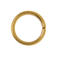Split Ring 6mm, Silver gold plated (40 pc/VE)