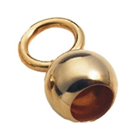 Bell Caps big Eye, 4,0mm, Silver goldplated (10 pc/VE)