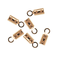 End Caps for Crimping 3mm, Silver gold plated (20 pc/VE)