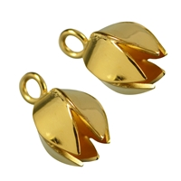 "End Cap ""Tulpe"" (Tulip) 23mm, Silver gold plated (2 pc/VE)"