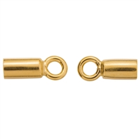 "End Cap ""Basis"" 07mm/2,5mm, Silver gold plated (4 pc/VE)"