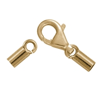 Trigger Clasp for 2,0mm Strings, Silver gold plated (3 pc/VE)