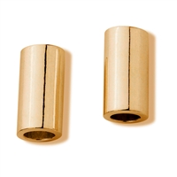 Tube 5x7mm, Silver gold plated frosted (6 pc/VE)