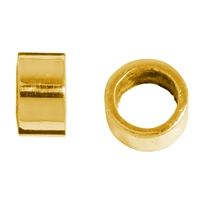 Spacer Tube 3,5mm, Silver gold plated frosted (20 pc/VE)