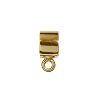 Tube with Loop 5 x 3mm, Silver gold plated (4 St./VE)