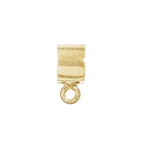 Tube with Loop 5 x 3mm, Silver gold plated frosted (4 St./VE)