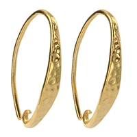 French Hook hammered front, 21mm, Silver gold plated (2 pc/VE)