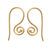 French Hook curled 25mm, Silver gold plated (6 pc/VE)