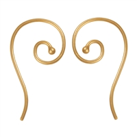 French Hook curled 26mm, Silver gold plated (6 pc/VE)