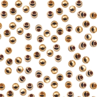 Crimp Beads, Silver gold plated,  1,8 mm (2900 pc/VE)