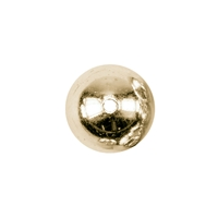 Bead 06,0mm, Silver gold plated, (13 pc/VE)