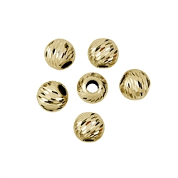 Bead 08,0mm, Silver gold plated, Lacer cut (6 pc/VE)