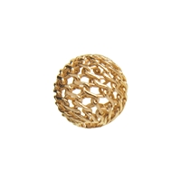 "Bead ""Net Ball"" 06mm, Silver gold plated (19 pc/VE)"