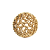 "Bead ""Net Ball"" 08mm, Silver gold plated (10 pc/VE)"