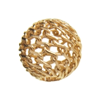"Bead ""Net Ball"" 10mm, Silver gold plated (6 pc/VE)"