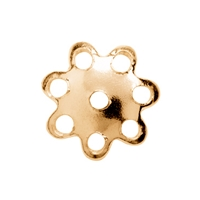 Half Shell Blossom 5mm, Silver gold plated (138 pc/VE)