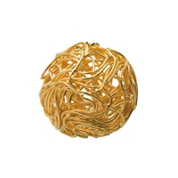 "Bead ""Wire Ball"" 12mm, Silver gold plated (1 pc/VE)"