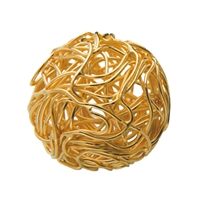 "Bead ""Wire Ball"" 16mm, Silver gold plated (1 pc/VE)"